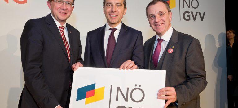 NÖ GVV startet mit Bundeskanzler Kern und neuem Logo ins neue Jahr