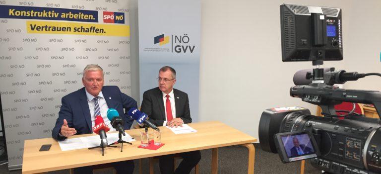 NÖ GVV und SPNÖ präsentieren 10-Punkte-Paket zur  Aufwertung des ländlichen Raums