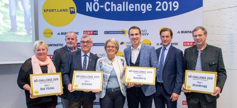 NÖ Challenge: die Siegergemeinden 2019