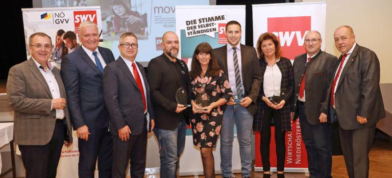 Innovative und engagierte Unternehmen aus dem Waldviertel von NÖ GVV und SWV NÖ ausgezeichnet